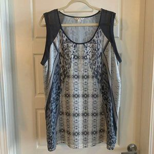 cabi Mixed Print Sleeveless Tunic Size XL EUC